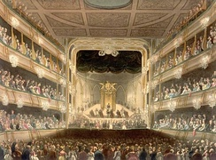 A picture of the theatre at Covent Garden where Theodora was first performed