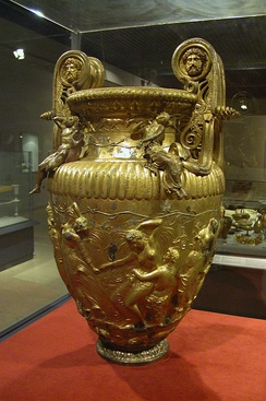 The Derveni Krater, one of very few large Ancient Greek bronze vessels to survive