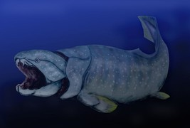Dunkleosteus, one of the largest armoured fish ever to roam the planet, lived during the late Devonian