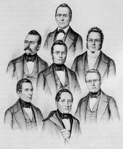 The first seven members, elected 1848