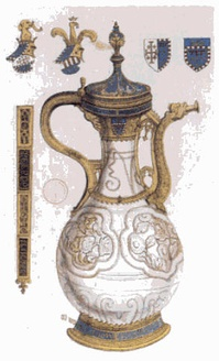 The Fonthill vase is the earliest Chinese porcelain object to have reached Europe. It was a Chinese gift for Louis the Great of Hungary in 1338.