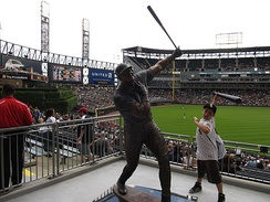 Frank Thomas Statue, U.S. Cellular Field (Comiskey Park), Chicago, Illinois