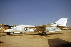 The first pre-production F-111B 152714 in storage at Davis Monthan AFB in 1971