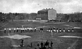 Harvard v McGill football game, played under an adaptation of the rugby union rules