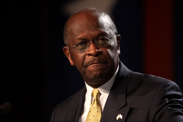 Cain in Washington, DC on October 7, 2011