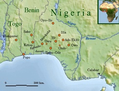Some Yoruba cities of the Middle Ages