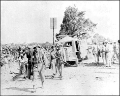 Israeli soldiers in Lod (Lydda) or Ramle.