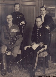 Pearson with John Ross McLean, Vincent Massey and Georges Vanier, Canada House, London