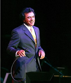 Johnny Mathis in concert at the Chumash Casino Resort in Santa Ynez, California, on May 25, 2006