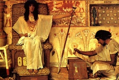 Joseph Overseer of the Pharaoh's Granaries, oil on canvas, by Sir Lawrence Alma-Tadema, 1874