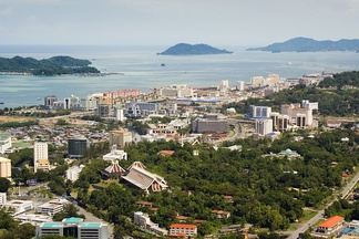 Kota Kinabalu in 2008. It became the first city in the state in 2000 and has become not only the administrative capital but also the economic and transportation hub of the region.