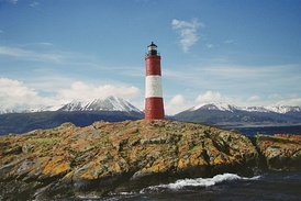 The Les Eclaireurs Lighthouse, on the Beagle Channel near Ushuaia.