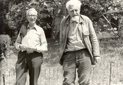 Nikolaas Tinbergen (left) and Konrad Lorenz (right) were awarded (with Karl von Frisch) for their discoveries concerning animal behavior.[34]
