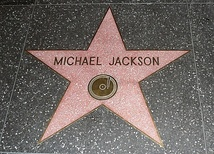 Jackson's star on the Hollywood walk of fame, set in 1984