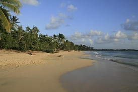 Les Salines, a wide sand beach at the southeastern end of the island