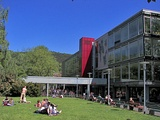 One of the two large university cafeterias and canteens is located on the bank of the Lahn river