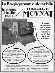 A 1924 advert for Moynat's baggage trunk