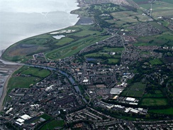 Musselburgh from the air (summer)