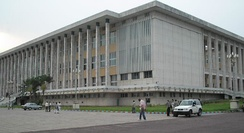 The People's Palace, seat of the Congolese parliament