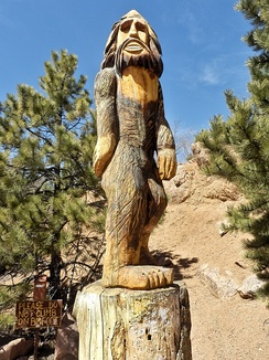 """Bigfoot"" Statue at the Crystal Creek Reservoir"