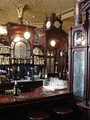 One of the characteristic booths at the Princess Louise in High Holborn