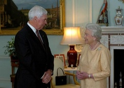 Governor-General Michael Jeffery and The Queen at Buckingham Palace, 2007