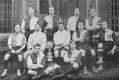 Queens' College Cambridge football team 1900-1901, including Sir Shenton Thomas, Charles Tate Regan and Samuel Day.