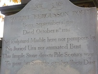 The Burns epitaph on the poet's headstone in Edinburgh's Canongate Kirkyard