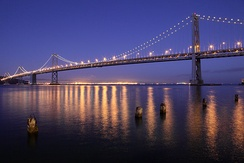 The Bay Bridge offers the only direct automobile connection to the East Bay