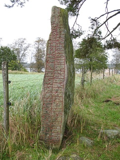 The runestone Sm 42, in Småland, Sweden, mentions Harold Harefoot.[6]