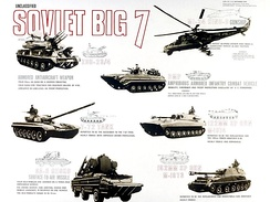 "A ""Soviet Big Seven"" threats poster, displaying the equipment of the militaries of the Warsaw Pact"