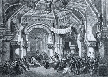 Act 2, scene 2: setting by Charles-Antoine Cambon for the original production at the Paris Opéra (Salle Le Peletier)