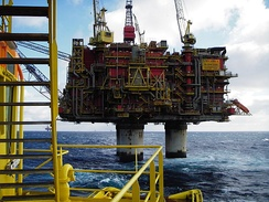 Statfjord oil platform in Norway is owned and operated by Statoil, which is the largest company in the Nordic countries