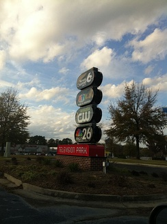 Outside Television Park, the facilities which were shared by WJBF and WAGT.