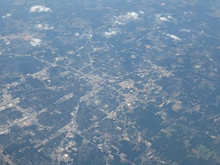Aerial view of Tyler in 2018