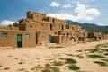 The Taos Pueblo of New Mexico.