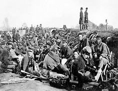 Union soldiers before Marye's Heights, Second Fredericksburg