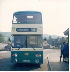 Charles H Roe bodied Leyland Atlantean in Hayfield