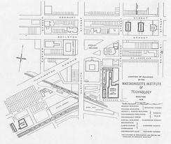 A 1905 map of MIT's Boston campus