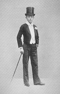 The 17th Duke of Alba in late 1800s Eton dress, seen here with a mess jacket