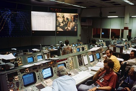 Mission control center in Houston during ASTP
