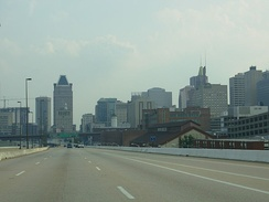I-83 (JFX) southbound in Baltimore
