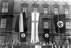 Members of the German Christians organization celebrating Luther Day in Berlin in 1933, speech by Bishop Hossenfelder