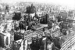 Dresden, 1945—over 90 percent of the city centre was destroyed.