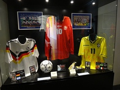 Romário's No.11 Brazil shirt (right) from the 1994 FIFA World Cup