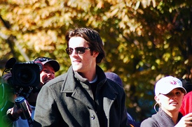 Cole Hamels in World Series victory parade on October 31, 2008