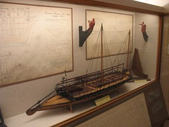 "A model of a type of decked ""gun yawl"" designed by Fredrik Henrik af Chapman and used by the Swedish archipelago fleet"