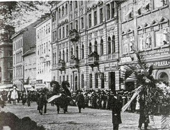 Dvořák's funeral on 5 May 1904 was an event of national significance.[89]