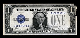 The first small-size $1 Silver Certificate.