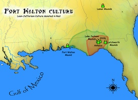 Geographic extent of Fort Walton Culture